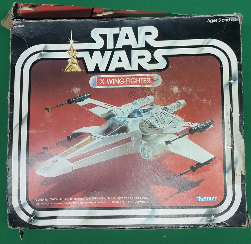 1977 Star Wars X Wing Fighter In Box: Vintage (1977) Star Wars X-Wing Fighter Toy Incomplete